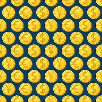 Geld. naadloze patronen. decoratieve achtergrond voor kaarten, illustratie, poster, advertentie en webdesign