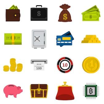 Geld pictogrammen instellen