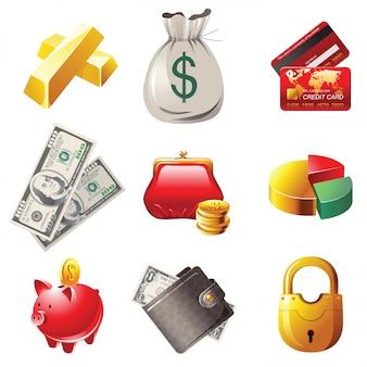 Geld pictogrammen