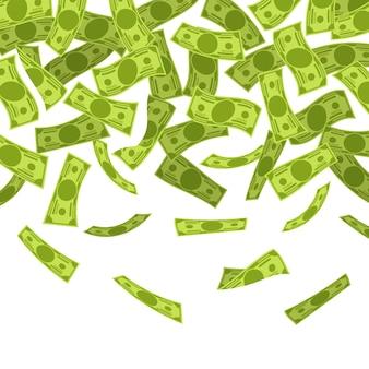 Geld regen illustratie