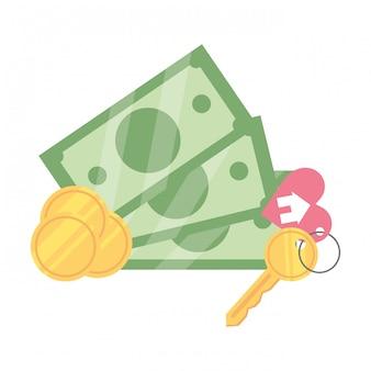 Geld rekeningen cartoon