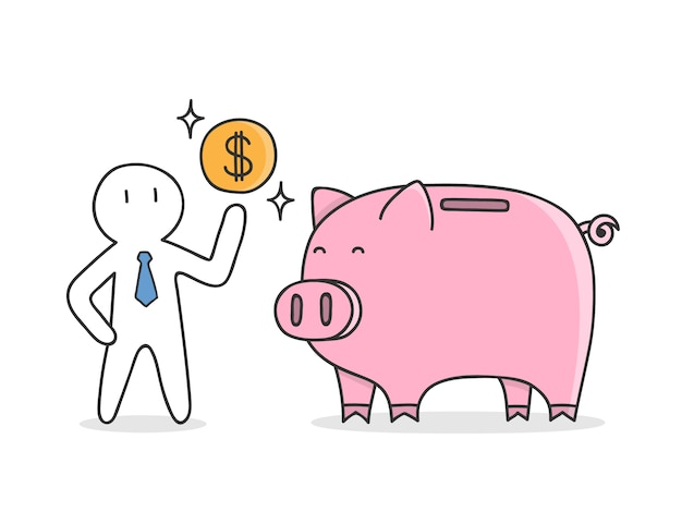 Geld te besparen achtergrond