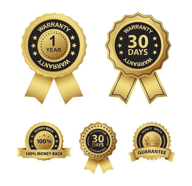 Geld terug en garantie badge pictogramserie