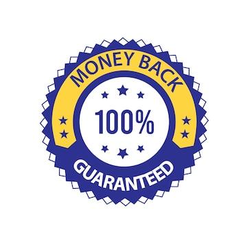 Geld terug gegarandeerd vector vertrouwensbadge
