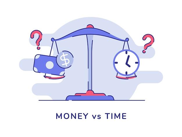 Geld versus de dollarklok van het tijdgeld