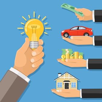 Geld voor idee