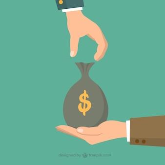 Geld zak uitwisseling