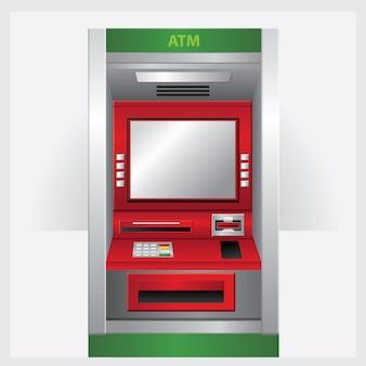 Geldautomaat. vector illustratie automatische teller machine