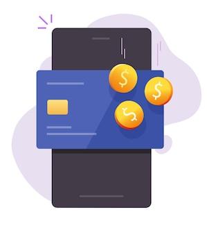 Geldbeloningsbonus, cashback-inkomen op de digitale portemonnee van de bankpas