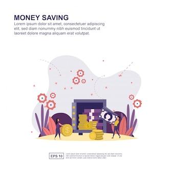 Geldbesparend concept