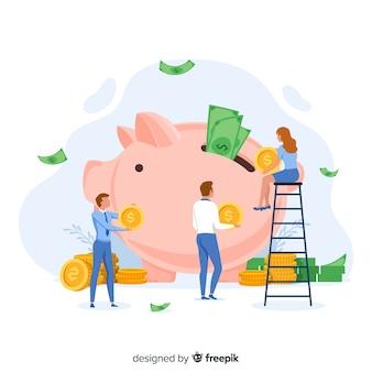 Geldbesparende concept