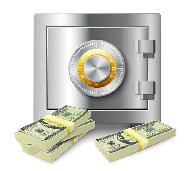 Geldstapel en veilig concept