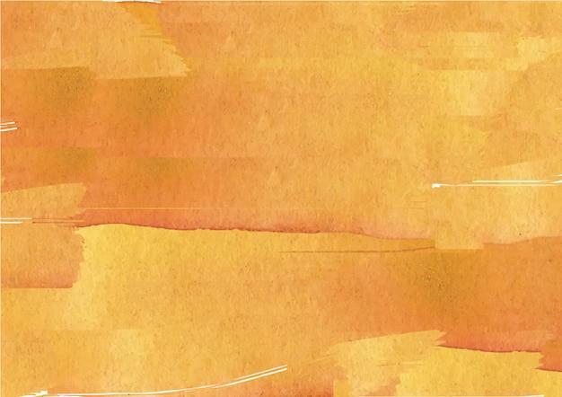 Gele abstracte de textuurachtergrond van de inktstroomwaterverf