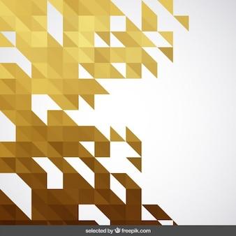 Gele abstracte geometrische achtergrond