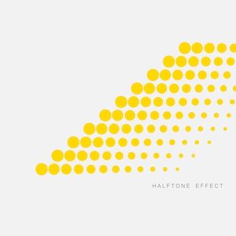 Gele achtergrond met abstracte halftoon