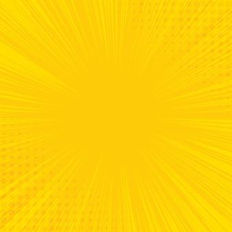 Gele achtergrond met broedsel en halftone effect