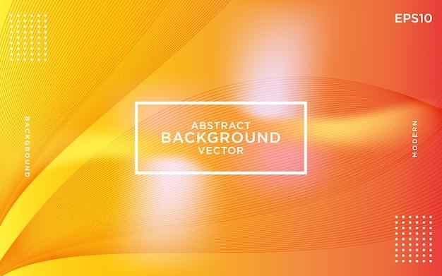 Gele achtergrond met dynamische abstracte vormen