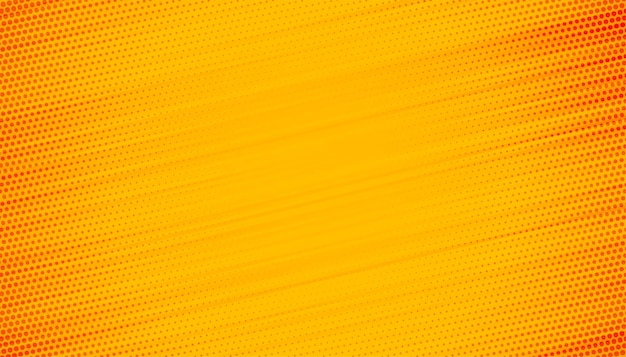 Gele achtergrond met halftoon lijnenontwerp