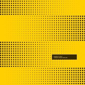 Gele achtergrond met zwarte halftoonrasterpunten