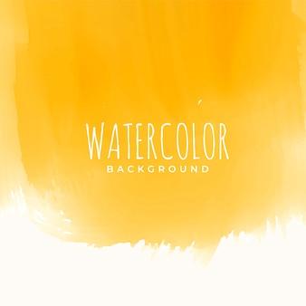 Gele aquarel textuur abstracte achtergrond