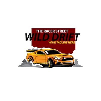 Gele auto drijven