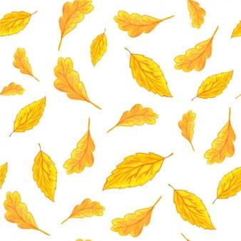 Gele bladeren patroon ontwerp