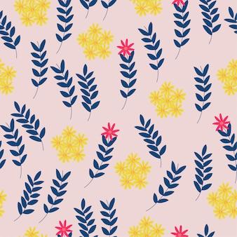 Gele bloem patroon achtergrond