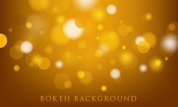 Gele bokehachtergrond, abstracte, lichte textuur