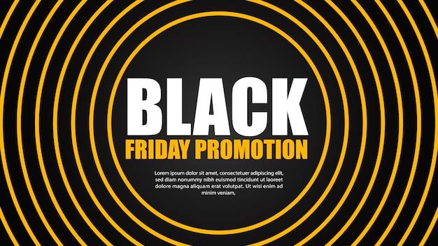Gele cirkel rond super speciale promotie. zwarte vrijdag verkoop