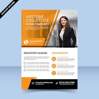 Gele creatieve flyer-sjabloon