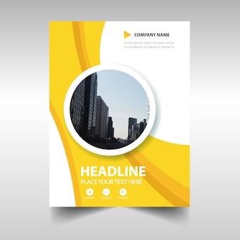 Gele creatieve jaarverslag boekomslag sjabloon