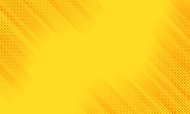 Gele diagonale geometrische gestreepte achtergrond met gedetailleerde halftoon