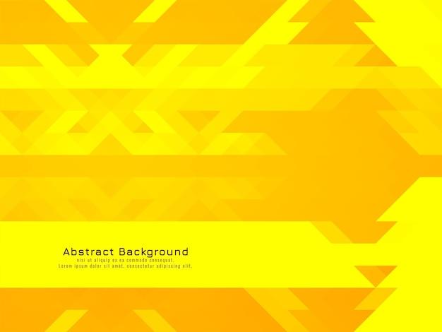 Gele driehoekige mozaïek patroon geometrische moderne achtergrond vector