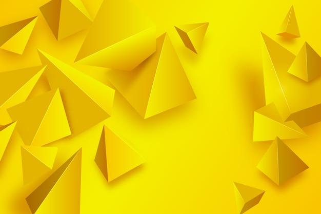 Gele driehoeksachtergrond met levendige kleuren
