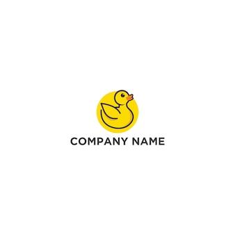 Gele eend logo sjabloon