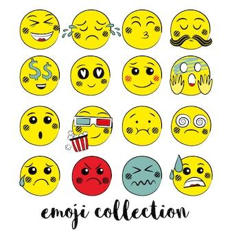 Gele emoji collectie