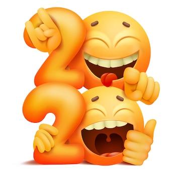 Gele emoji-glimlachkarakters