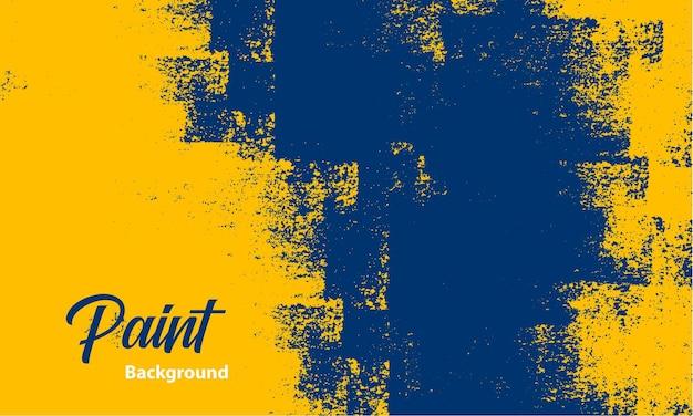 Gele en blauwe grunge verf textuur achtergrond