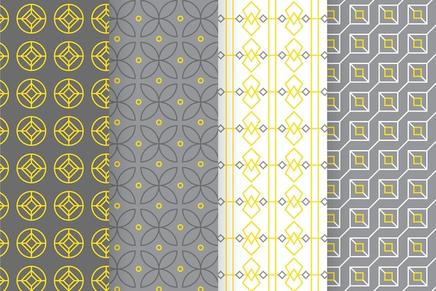 Gele en grijze geometrische patrooninzameling