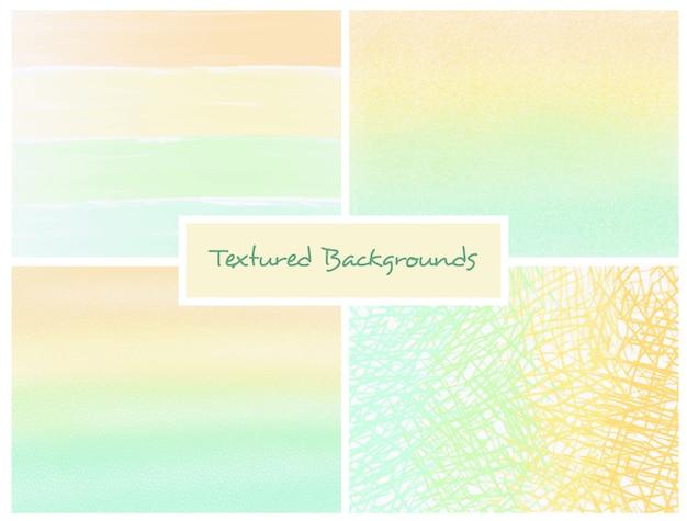 Gele en groene gestructureerde ombre achtergronden instellen