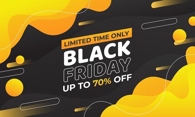 Gele en oranje kleurovergang zwarte vrijdag verkoop banner