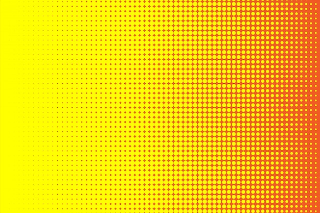 Gele en rode halftone achtergrond