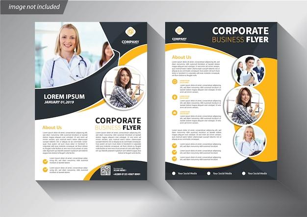 Gele folder sjabloon voor brochure bedrijven