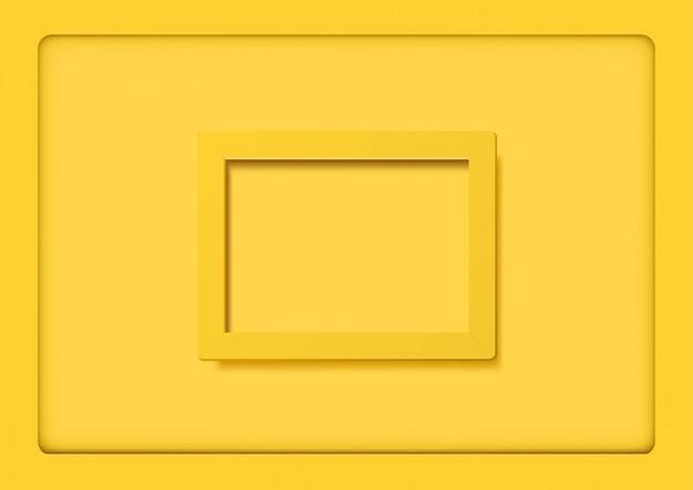 Gele frames op gele achtergrond