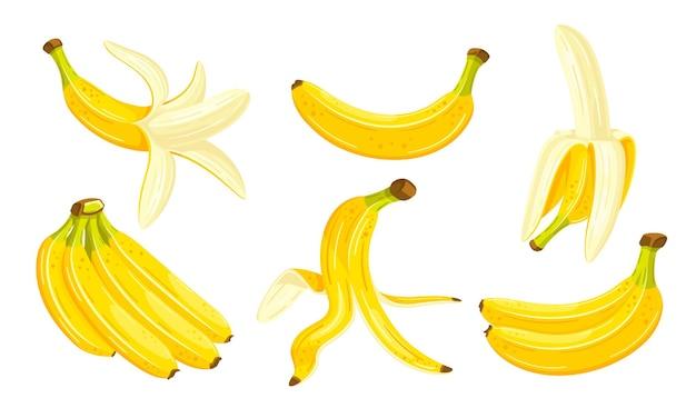 Gele geïsoleerde bananen