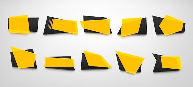 Gele geplaatste banners