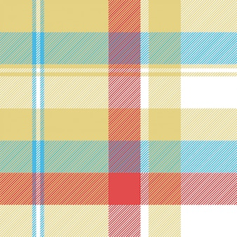 Gele geruite tartan naadloze patroon