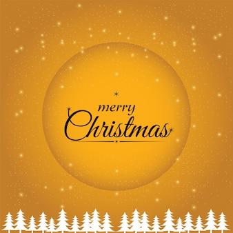 Gele kerstkaart