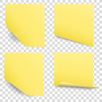 Gele kleverige herinneringsnotities