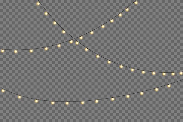Gele lichten geïsoleerd realistisch.